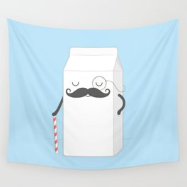 sir milk moustache Wall Tapestry