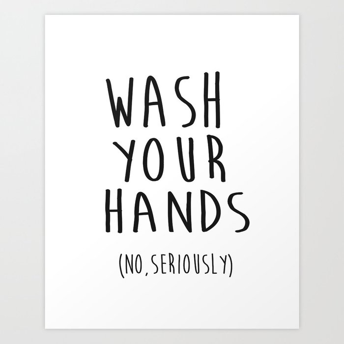 Wash your hands bathroom print bathroom decor nursery for Bathroom design quotes