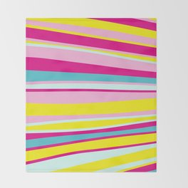 abstract stripes Throw Blanket