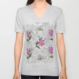 Retro chintz floral Unisex V-Neck