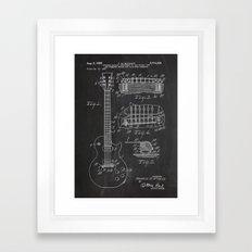 Guitar Patent Framed Art Print