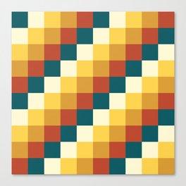 My Honey Pot - Pixel Pattern in yellow tint colors Canvas Print