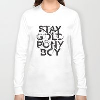 stay gold Long Sleeve T-shirts featuring Stay Gold by Lucas Young