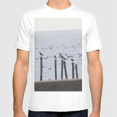 SEA White Mens Fitted Tee MEDIUM
