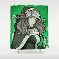 rogue Shower Curtains featuring Rogue by Miss-Lys