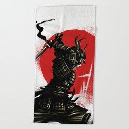 Samurai Invader Beach Towel