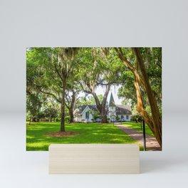Chapel Beyond Trees Mini Art Print
