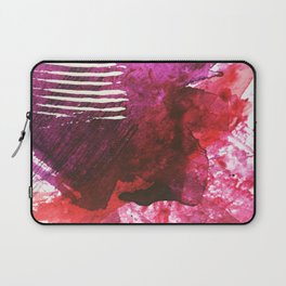 You set me on fire: a vibrant, colorful mixed media piece in red, purple, black and white Laptop Sleeve