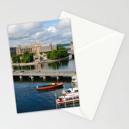 Riddarholmen Island Stockholm Sweden Cityscape Stationery Cards