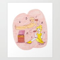 Ghost and Girl- Mellow Yellow Art Print