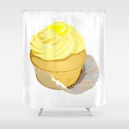 Lemon Cupcake Shower Curtain