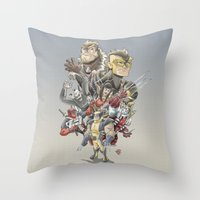 mortal instruments Throw Pillows featuring Mortal Enemies by Fernando Cano Zapata