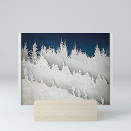 A Snowy Hike Mini Art Print