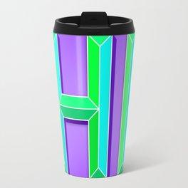 """HI"" 3D Letters (Deep Violet Purple, Mint Green) Travel Mug"