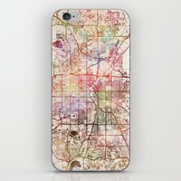 denver iPhone & iPod Skins featuring Denver by MapMapMaps.Watercolors