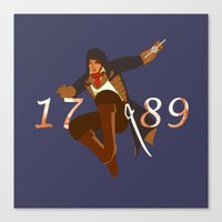 revolution Canvas Prints featuring Revolution by Arts and Herbs