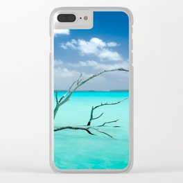 Driftwood in Lagoon Clear iPhone Case