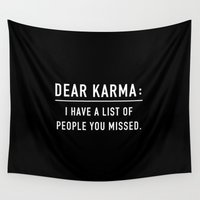 karma Wall Tapestries featuring Dear Karma by Daniela Dix