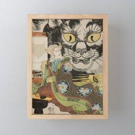 THE CAT WITCH - UTAGAWA KUNIYOSHI  Framed Mini Art Print