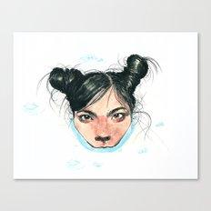Bjørk in Milk Canvas Print