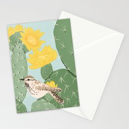 Prickly Pear with Wrens  Stationery Cards
