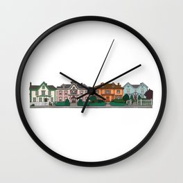 New Bedford Houses Wall Clock