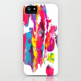 Abstract Paint Smear Party iPhone Case