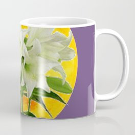 EASTER LILIES ON LILAC GOLDEN MOON ABSTRACT Coffee Mug