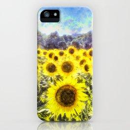 Sunflower Fields Of Summer Dreams iPhone Case