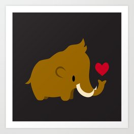 Kawaii mammoths Art Print