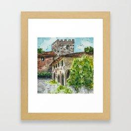 Castle Vineyard Framed Art Print