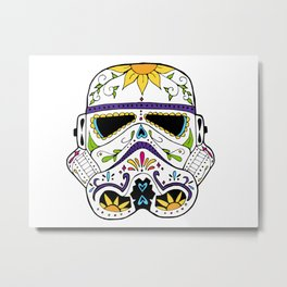 Day of the Death Star Stormtrooper Metal Print