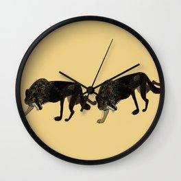 Black wolf totem (Canis lupus nubilus) (c) 2017 Wall Clock