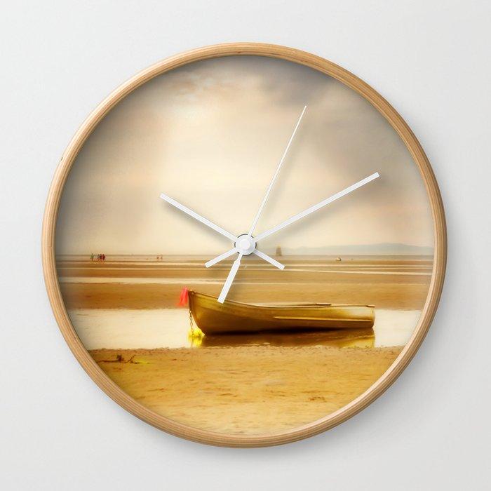 White Rock Rowboat II Wall Clock
