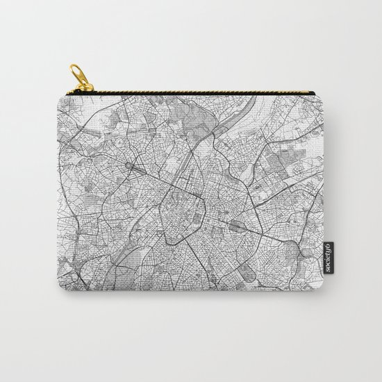 Brussels Map Line Carry-All Pouch