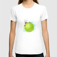 tennis T-shirts featuring Tennis bug by Migar