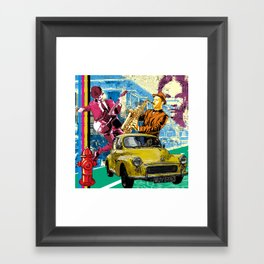 urban night Framed Art Print