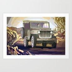 Old Jeep Car Art Print