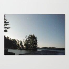 Midnight Moonlight, Algonquin Park, Canada Canvas Print