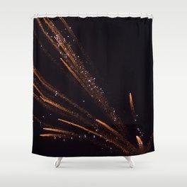 Firework Fan Shower Curtain