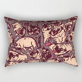 Pugs meeting Rectangular Pillow