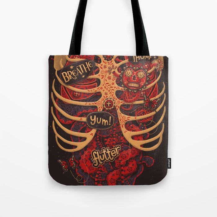 Anatomical Study - Day of the Dead Style Tote Bag