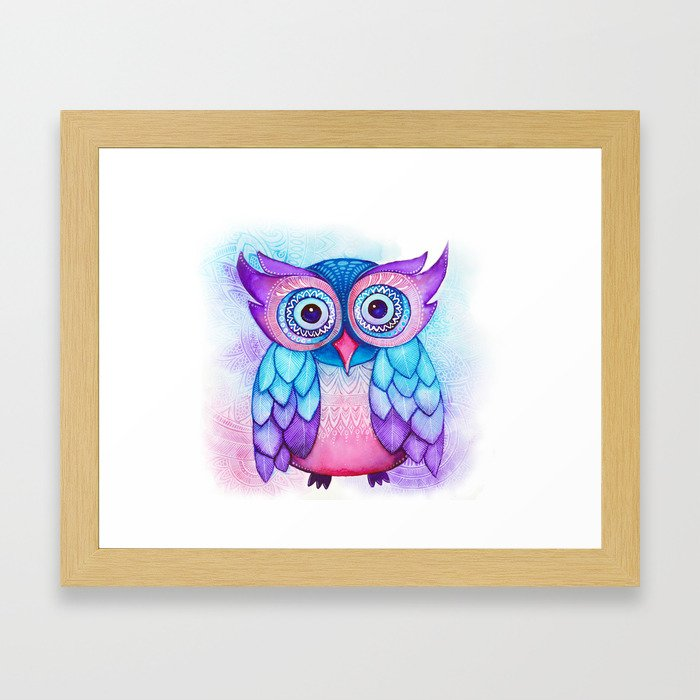 Owl. Framed Art Print