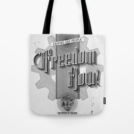 Freedom Now! - Machine Liberation Front Tote Bag