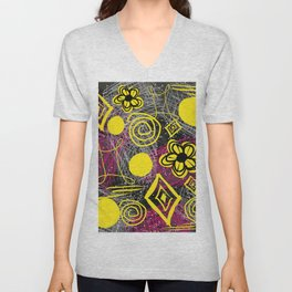 Scribble my thoughts Unisex V-Neck
