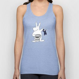 Rabbit and magician Unisex Tank Top