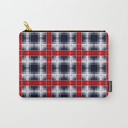 Black red plaid, plaid, red, black Carry-All Pouch