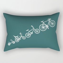 Ascent of a Cyclist Rectangular Pillow