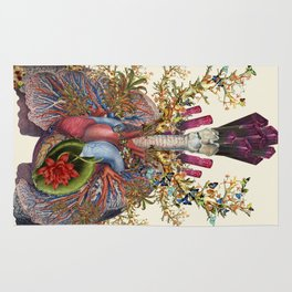 adore anatomical heart lungs collage by bedelgeuse Rug