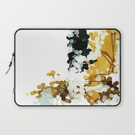 Nothing is Real: Mustard yellow, white, & charcoal gray abstract watercolor painting Laptop Sleeve